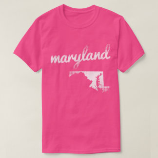 Maryland state in white T-Shirt