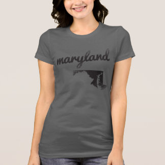Maryland State on Ladies T-Shirt