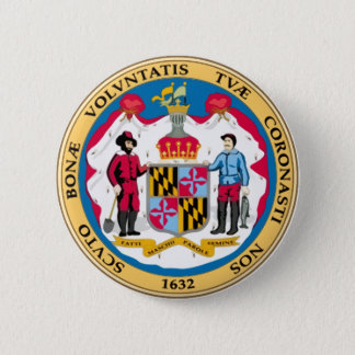 Maryland State Seal 6 Cm Round Badge