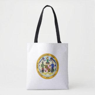 Maryland state seal america republic symbol flag tote bag