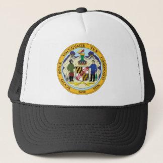Maryland state seal america republic symbol flag trucker hat