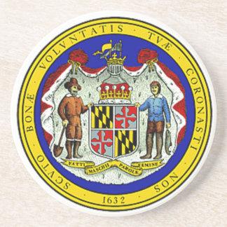 Maryland State Seal Coaster