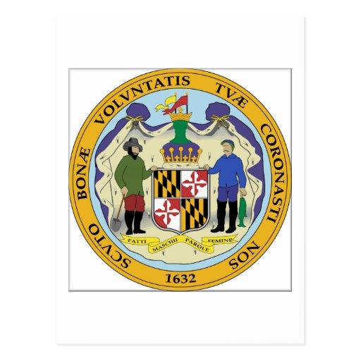 Maryland State Seal Postcard