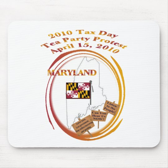 Maryland Tax Day Tea Party Protest Mouse Mat