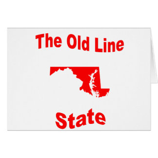 Maryland The Old Line State Greeting Card