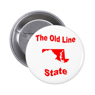 Maryland The Old Line State Pinback Button