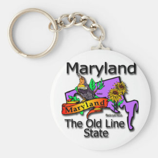 Maryland The Old State Line Bird Basic Round Button Key Ring