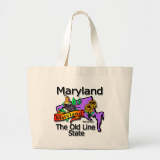 Maryland The Old State Line Bird Large Tote Bag