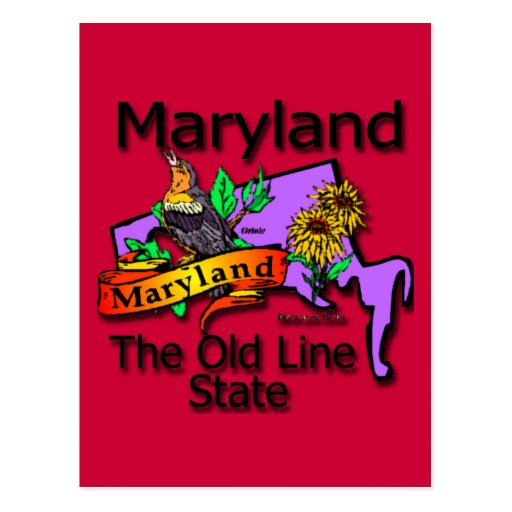Maryland The Old State Line Bird Post Cards