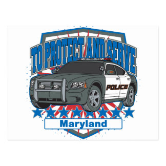 Maryland To Protect and Serve Police Squad Car Postcard