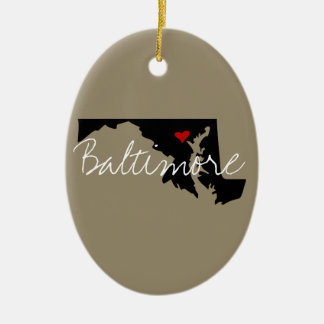 Maryland Town Christmas Ornament