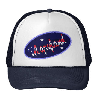 Maryland USA embroidered effect hat