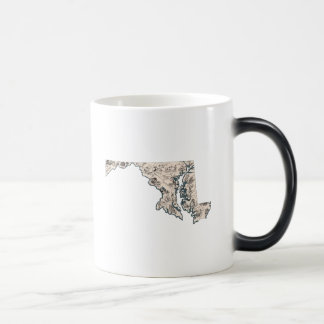 Maryland Vintage Picture Map Morphing Mug