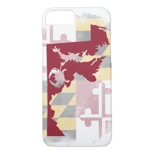 Maryland Watercolor iPhone 7 Case
