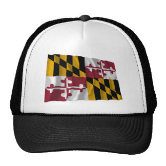 Maryland Waving Flag Mesh Hat