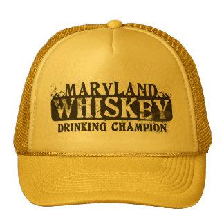 Maryland Whiskey Drinking Champion Cap