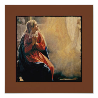 Mary's Annunciation 13 Cm X 13 Cm Square Invitation Card
