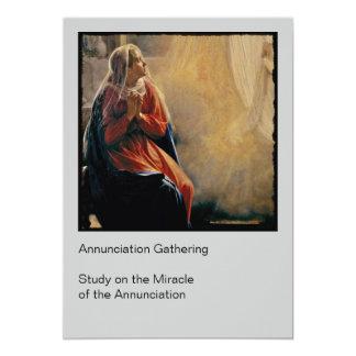 Mary's Annunciation 13 Cm X 18 Cm Invitation Card