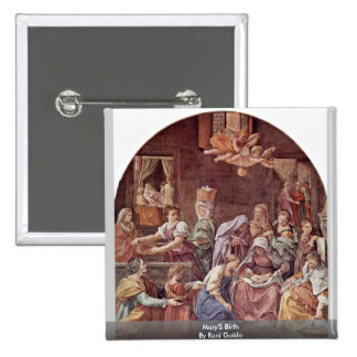 Mary'S Birth By Reni Guido 15 Cm Square Badge
