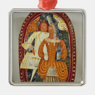Marzipan box depicting a man and woman, c.1660 christmas ornament