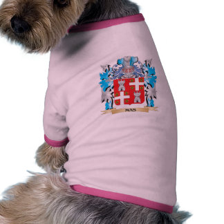 Mas Coat of Arms - Family Crest Pet Clothes