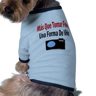 Mas Que Tomar Fotos Una Forma De Vivir Ringer Dog Shirt