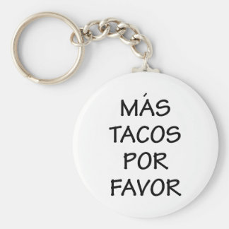 Mas Tacos Por Favor Key Ring