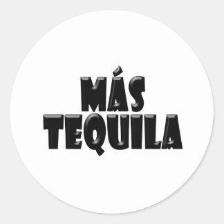Mas Tequila Classic Round Sticker