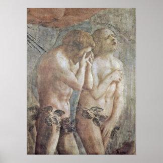 Masaccio - Adam and Eve Poster