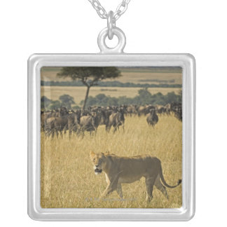 Masai Mara National Reserve, Kenya, Africa Silver Plated Necklace