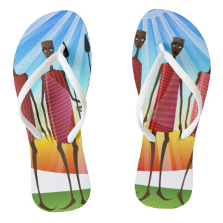 MASAI TRIBAL ART FLIP FLOPS