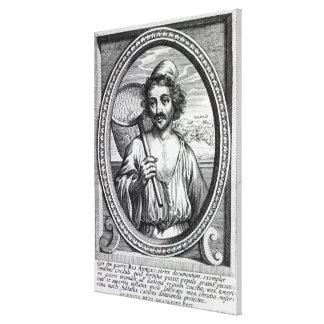 Masaniello, engraved by Petrus de Iode Canvas Print