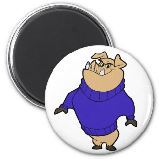 Mascot - Hog Blue Fridge Magnet