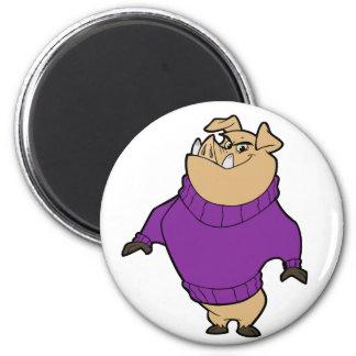 Mascot - Hog Purple Magnets