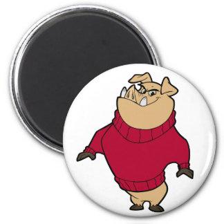 Mascot - Hog Red Magnets