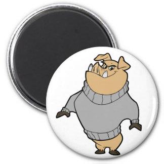 Mascot - Hog Silver Grey Refrigerator Magnets