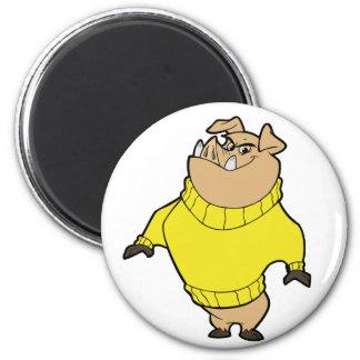 Mascot - Hog Yellow Magnets