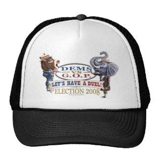 Mascot Political Duel Election 2008 bumper Hats