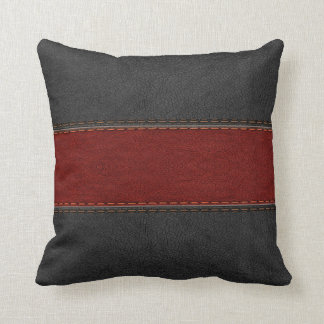 Red Leather Cushions - Red Leather Scatter Cushions Zazzle.co.uk