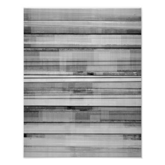 'Masculine' Black and White Abstract Art Poster