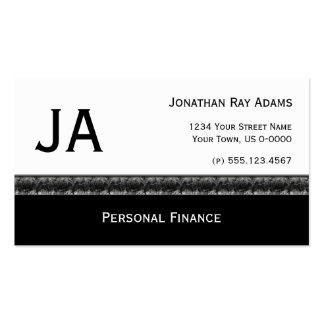 Masculine Black With Black Grey Granite Pack Of Standard Business Cards