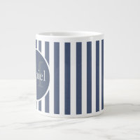 Masculine Blue Striped Personalised Monogrammed