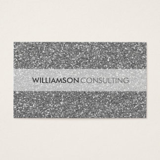 MASCULINE BUSINESS CARD bold simple silver glitter