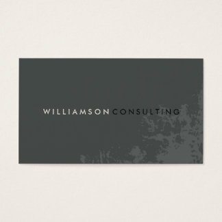 MASCULINE BUSINESS CARD :: plain modern grunge 3