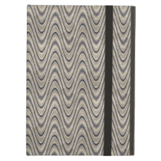 Masculine Chevron Wave Pattern in Blue and Beige iPad Air Cover