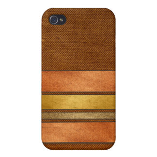 Masculine Cigar Band Stripes iPhone 4 Cases