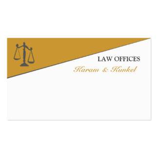 Masculine Divided Attention Attorney Law Pack Of Standard Business Cards