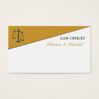 Masculine Divided Attention Attorney Lawyer Business Card