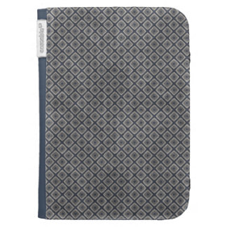 Masculine Geometric Squares Pattern Blue and Beige Case For Kindle
