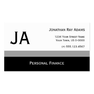 Masculine Gray and Black Stripes Business Cards